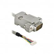 ACC016 Konfektioniertes Kabel FCI , 8-pol., bis zu SUB-D-Stecker 9M, 1 m