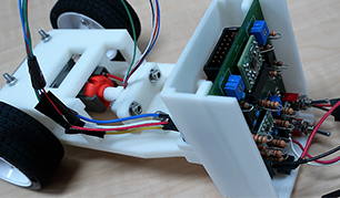 Magnetic encoders support the stabilisation control of a self-balancing two-wheeled robotic vehicle